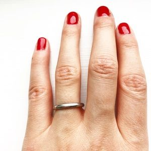 Vintage silver & classic silver band ring
